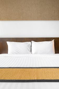 White pillow bedroom