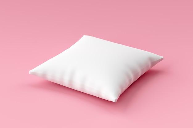 空白のテンプレートとピンクの白い枕モックアップ。