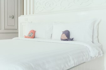 White pillows hotel bed modern