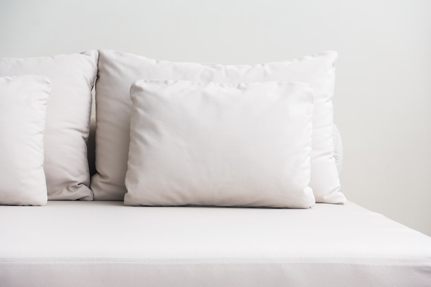 White pillows stacked