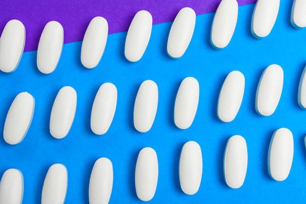 Шаблон белые таблетки