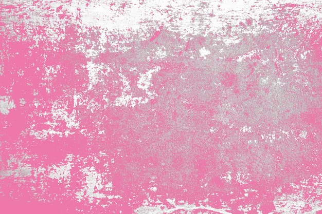 White and pink color on grunge cement texture background