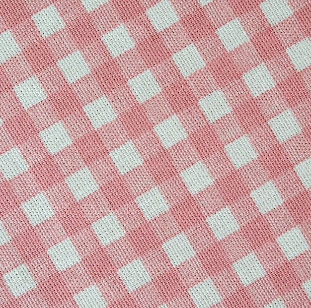 White and pink plaid pattern fabric texture