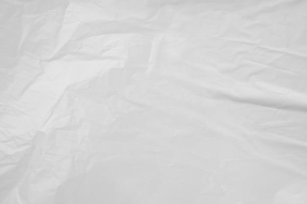 Белый пластиковый пакет фоновой текстуры крупным планом