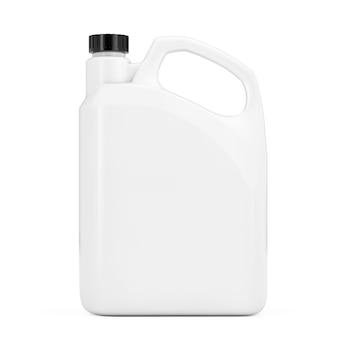 白い背景の上のあなたのデザインのための空白のスペースを持つ白いプラスチック製の空白のコンテナキャニスター。 3dレンダリング。