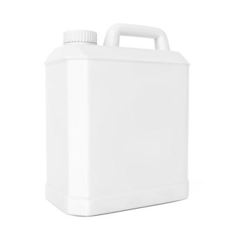 白い背景の上の白いプラスチックの空白のコンテナ。 3dレンダリング。