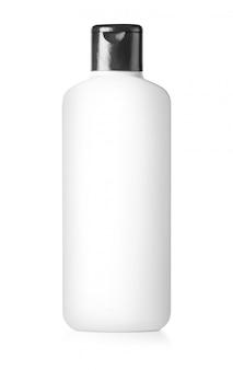 White plastic bottle isolated