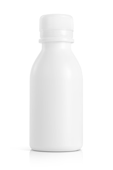 White plastic bottle for medical care product design mock-up