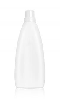 White plastic bottle for softener or detergent
