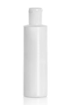白いプラスチック製の化粧品ボトル