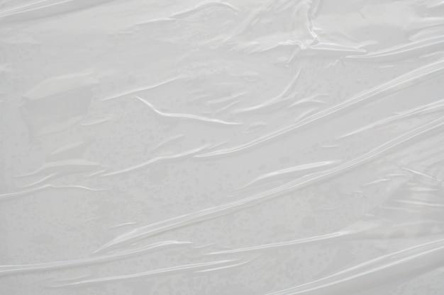 흰색 플라스틱 필름 랩 질감 배경