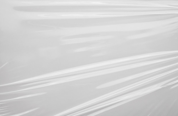 White plastic film wrap texture background