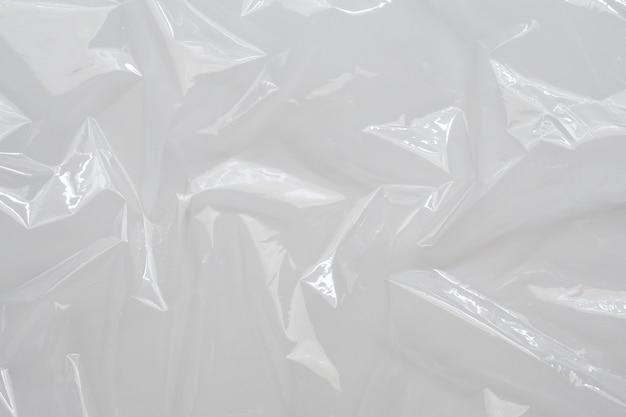 White plastic film wrap texture