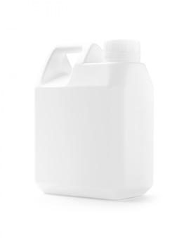 White plastic gallon for liquid product design mock-up