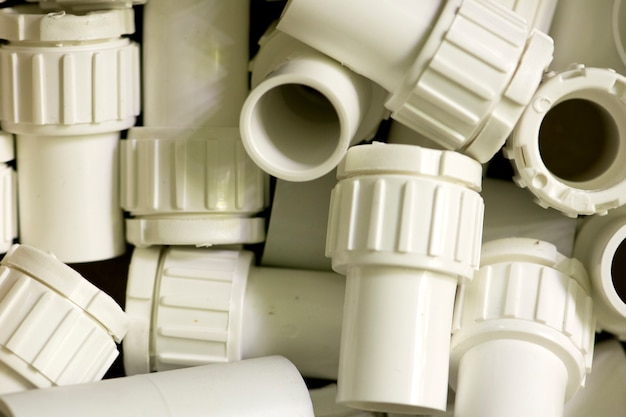 White plastic pipe electric wire for background