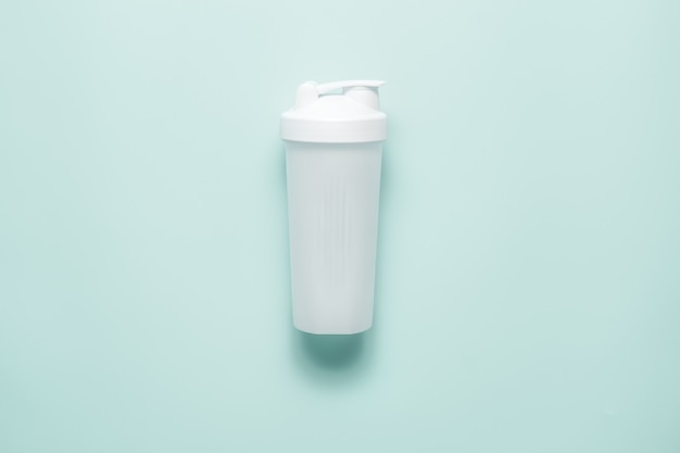 White plastic sports shaker