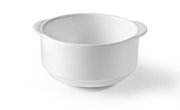 클리핑 패스와 함께 격리된 흰색 접시