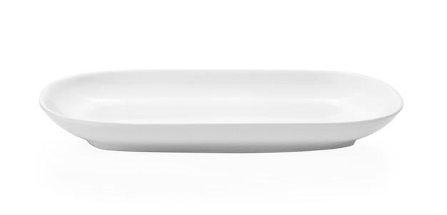 Белая тарелка изолирована
