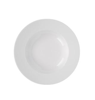 白い背景の上の白いプレート