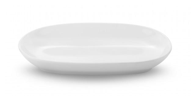 Белая тарелка на белом