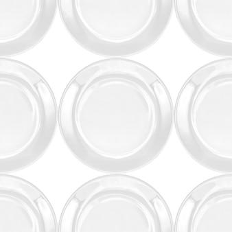 White plate seamless pattern