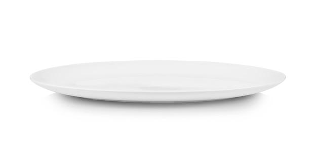 Изолированная белая тарелка
