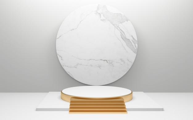 배경 추상 최소한의 스타일에 흰색 연단입니다. 3d 렌더링