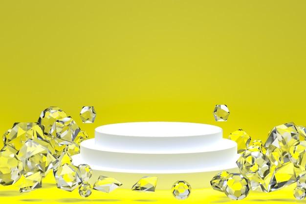 Белый подиум на желтом