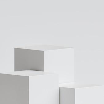 3d 렌더링에서 다양한 높이와 흰색 연단