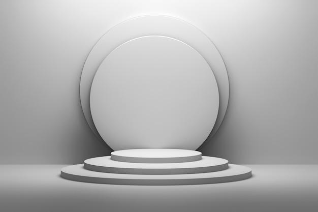 White presentation pedestals mock up
