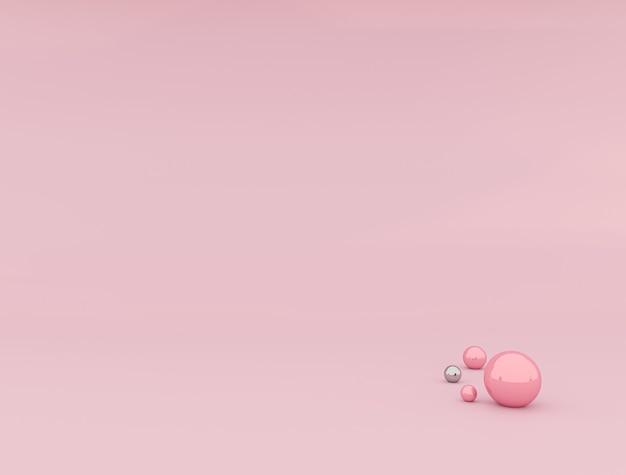 Белый продукт дисплей или пьедестал витрины на розовом фоне диаграммы