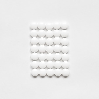 White rectangle from tablets