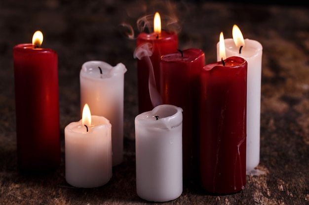 White and red candles