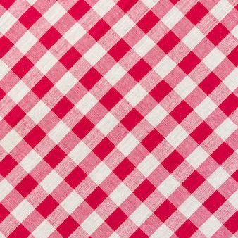 White and red checkered background close up