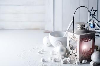 White retro lamp of fire