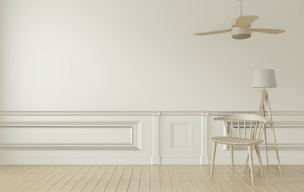 White room interior and decoration.3d rendering