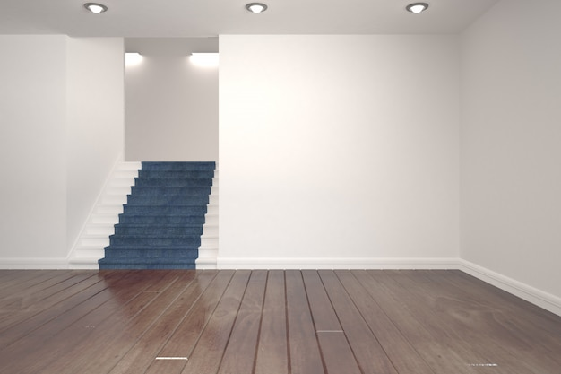 White room with stairs
