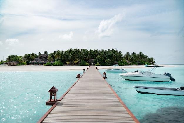 White sand beach in beautiful maldives