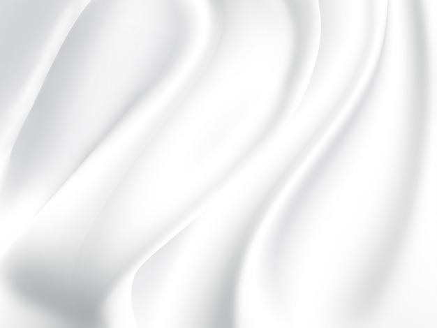 배경으로 흰색 새틴 패브릭