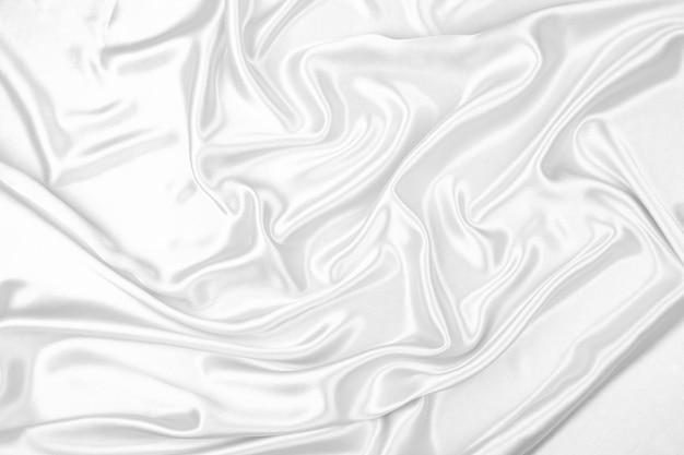 Текстура белой атласной ткани