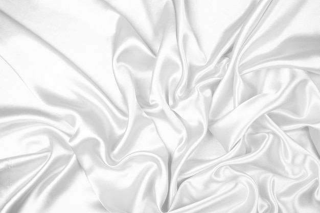 White satin fabric texture background