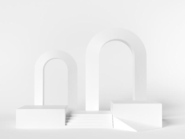 製品展示用の白いシーン。