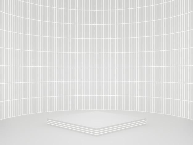 흰색 공상 과학 제품 스탠드 프로토 타입 과학 연단