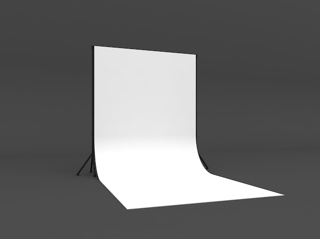 White screen a isolated on grey