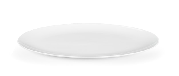 白い壁に白いセラミックプレート