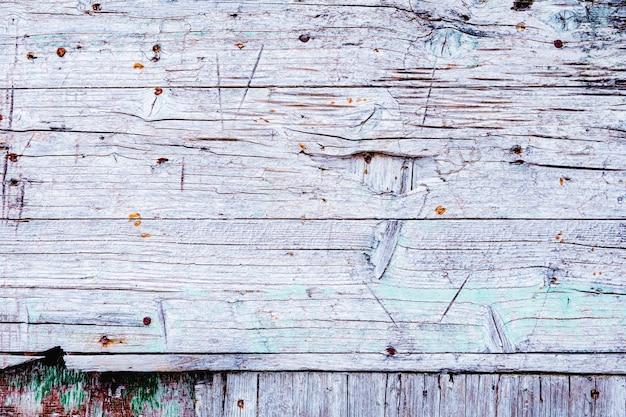 텍스트, 디자인을 위한 복사 공간이 있는 흰색 초라한 풍화된 나무 배경