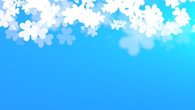 Белые трилистники на фоне блеска, праздник дня святого патрика. роскошный и элегантный стиль 3d иллюстрации для праздника