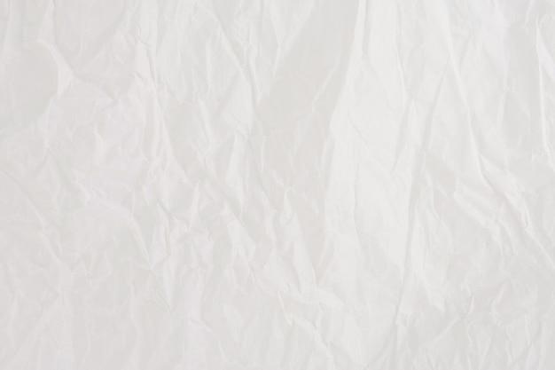 しわのある紙の白いシート