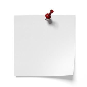 Канцелярская кнопка с белым листом