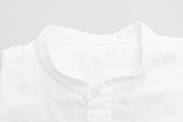 White shirt closeup on white surface